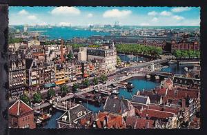 Amsterdam (Damrak mit Ansicht vom Y.)