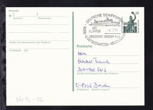DEUTSCHE SCHIFFSPOST MS FLIPPER REEDEREI CASSEN EILS NORD- U. OSTSEEFAHRTEN-