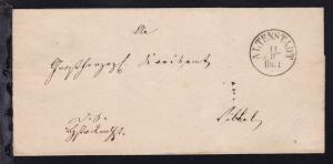Altenstadt K1 ALTENSTADT 8.11.1864 auf Dienstbriefhülle nach Vilbel
