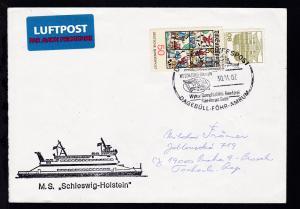 DEUTSCHE SCHIFFSPOST MS SCHLESWIG-HOLSTEIN Wyker Dampfschiffs-Reederei