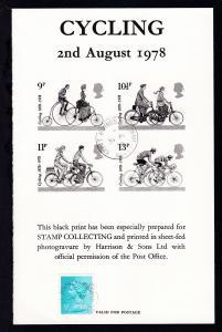 100 Jahre britischer Radfahrer-Touring-Club Schwarzdruck