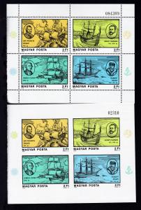 Berühmte Seefahrer und Entdecker, Blockpaare A und B **