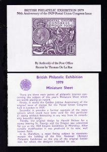 British Philatelic Exhibition 1979 Vignettenblock