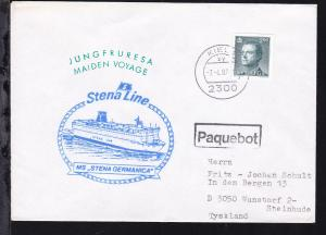 R1 Paquebot + OSt. Kiel 7.4.87 + Cachet Jungfernreise MS Stena Germanica