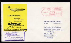 Lufthansa Erstflugbrief New York-Frankfurt 17.3.1960