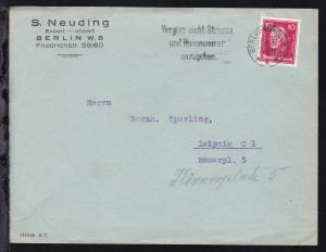 Berühmte Deutsche 10 Pfg. auf Firmenbrief (S. Neuding, Berlin) ab Berlin-