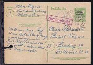 Arbeiter 10 Pfg. mit Aufdruck Sowjetische Besatzungs Zone ab Neubrandenburg