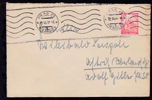 Landschaften 1.20 K. auf Brief ab Prag 22.VI.42 nach Ostritz (Oberlausitz)