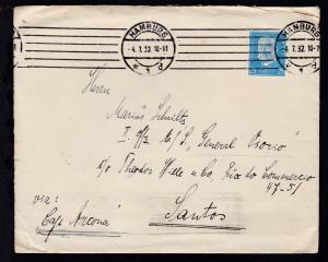 Reichspräsidenten 25 Pfg. auf Brief ab Hamburg 4.7.32 an den II. Offizier MS