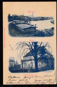 Lübeck Hafen und Navigationsschule, 1900