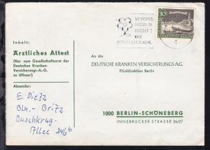 Alt-Berlin 10 Pfg. auf Brief ab Berlin 17 17.2.63 nach Berlin-Schöneberg