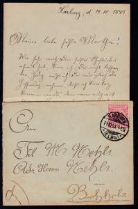 Adler 10 Pfg. auf Brief mit Inhalt ab Harburg 19.10.93 nach Buchholz