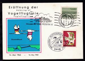 RÖDBY-FEHMERN PAQUEBOT 14.5.63 M/F KONG FREDERIK IX auf Sonderpostkarte