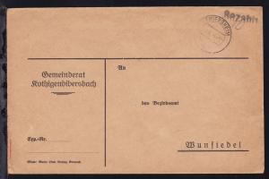 THIERSHEIM 8.1.46 + L1 Bezahlt auf Brief aus Kothigenbibersbach nach Wunsiedel