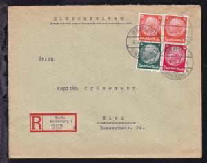 Berlin OSt. BERLIN-SCHÖNEBERG 1 o 8.9.33 auf R-Brief des Peter J. Oestergaard-