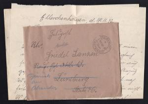 HEILIGENLOH über TWISTRINGEN a 19.11.42 auf Feldpostbrief mit Inhalt