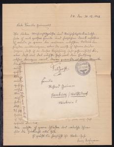 K1 FELDPOST 31.12.42 auf Feldpostbrief mit Inhalt, Absenderangabe 04312 A