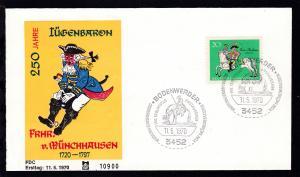 250. Geburtstag Freiherr von Münchhhausen auf FDC ohne Anschrift