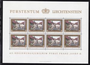 40. Jahrestag der Thronbesteigung von Fürst Franz Josef II. Kleinbogensatz **
