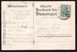 Germania 5 Pfg. auf Sonderpostkarte (Silberhochzeit des Württembergischen