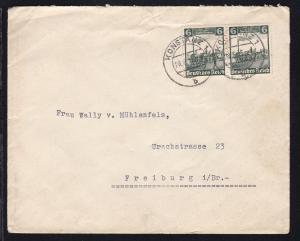 100 Jahre Deutsche Eisenbahn 6 Pfg. waager. Paar auf Brief ab Konstanz 28.6.35