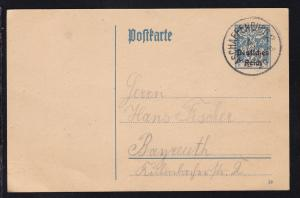 Bayern-Abschied mit Aufdruck Deutsches Reich 30 Pfg. ab Aschaffenburg 4 AUG 20