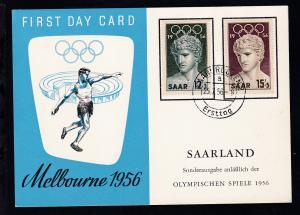 Olympische Sommerspiele Melbourne 1956 auf FDC