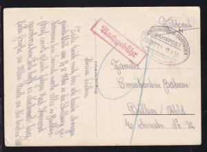 LUDWIGSHAFEN (RHEIN)-SAARBRÜCKEN BAHNPOST ZUG 0724 19.4.40 auf Feldpost-CAK