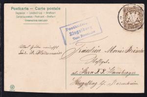 K2 ROSENHEIM 8 SEP 00+ R3 Posthilfsstelle Ziegelberg Taxe Rosenheim auf