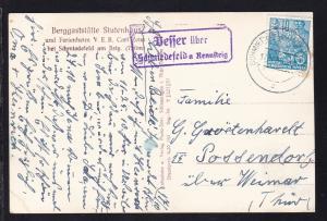 OSt. Schmiedefeld a Rennsteig 17.10.57 + R2 Vesser über Schmiedefeld a Rennsteig
