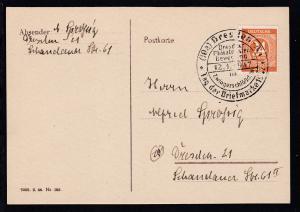 Dresden Sonderstempel (10a) DRESDEN A 1 Tag der Briefmarke 1947