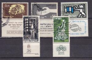 Israel 5 verschiedene Marken mit Tab