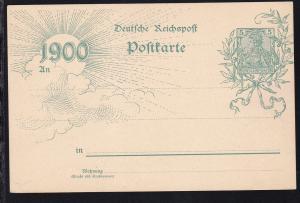 Germania 5 Pfg. Jahrhunderwende ab Dahlhausen 27.6.00 nach Dortmund
