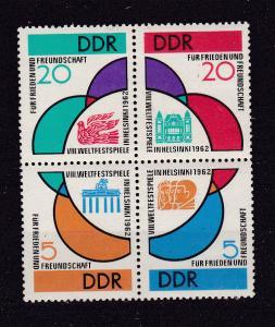 Weltfestspiele Helsinki 1962 Viererblock **