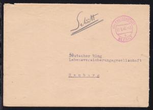(14) FREUDENSTADT BEZAHLT o 17.9.46 auf Brief nach Hamburg