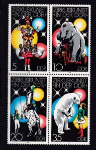 Zirkuskunst in der DDR (I) Viererblock **