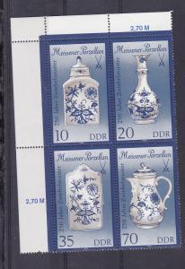 Meissener Porzellan (III) Eckrand-Viererblock oben links **