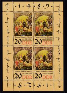 500. Geburtstag von Thomas Müntzer 20 Pfg. Kleinbogen **