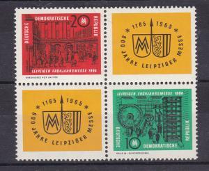 Leipziger Frühjahrsmesse 1964 Viererblock **