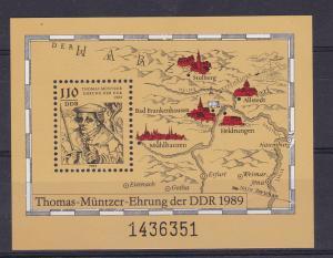 500. Geburtstag von Thomas Müntzer Block  **