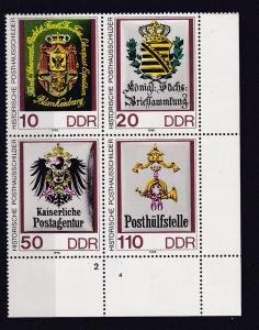 Historische Posthausschilder Eckrand-Viererblock unten rechts **
