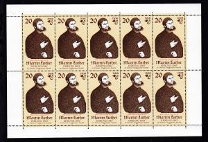 500. Geburtstag von Martin Luther 20 Pfg. Kleinbogen mit 2755 I **