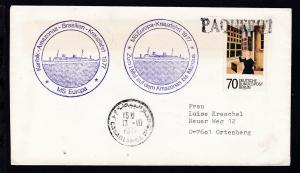 L1 PAQUEBOT + OSt. Casablanca 13.10.1977 + Cachets MS Europa auf Brief
