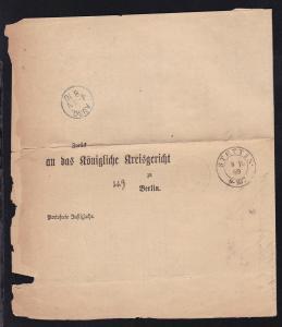 Stettin K2 STETTIN 8.10.69 auf Post-Behändigungs-Schein nach Berlin