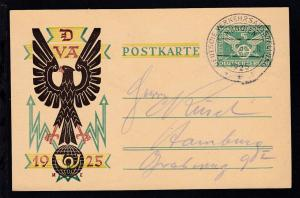 Deutsche Verkehrs-Ausstellung München 1925 mit Sonderstempel