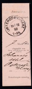Osterode Klaucke-Stempel OSTERODE AM HARZ 19/12 82 auf Zahlkartenabschnitt