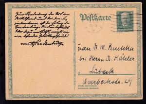 80. Geburtstag von Hindenburg ab Berlin 8.1.28 nach Lübeck