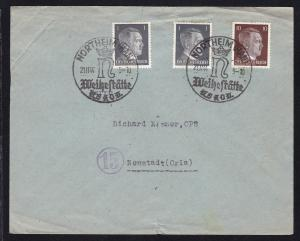 Northeim K1 NORTHEIM (HAN) Weihestätte NSKOV 21.11.44 auf Sammlerbrief,