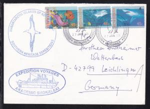 AUSTRALIAN ANTARCTIC RESEARCH EXPEDITIONS MACQUAIEIS 27 JAN 1996 + Cachets