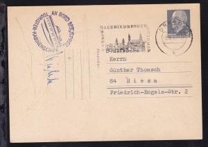 OSt. Dresden 5.8.65 + Kreisstempel AN BORD MS